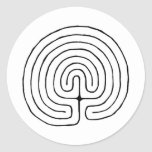 Minoan Labrynth Round Sticker