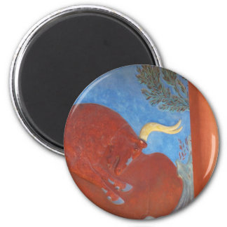 Minoan Palace of Knossos RED BULL 2 Inch Round Magnet