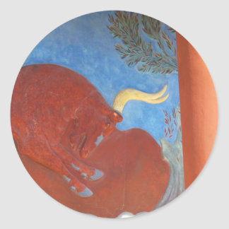 Minoan Palace of Knossos RED BULL Round Stickers