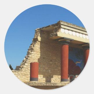 Minoan Palace of Knossos Round Sticker