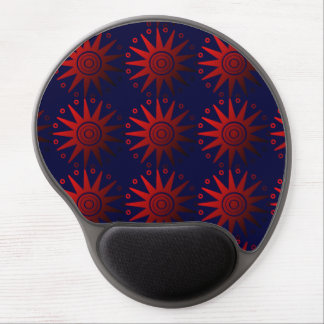 Minoan Starfish Pattern Mousepad- Blue Gel Mouse Pad