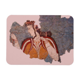 Minoan Wall Painting Rectangular Photo Magnet