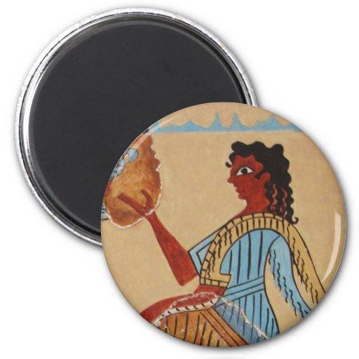 Minoan women painted around 1550-1450 BC Refrigerator Magnet