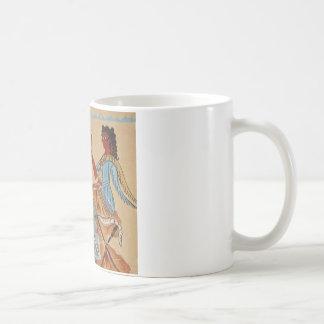 Minoan women painted around 1550-1450 BC Classic White Coffee Mug