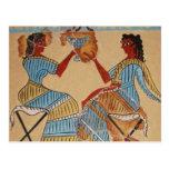 Minoan women painted around 1550-1450 BC Postcard