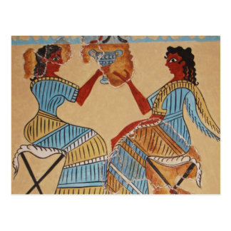 Minoan women painted around 1550-1450 BC Postcard