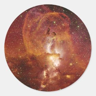 Minor Nebula NGC 3582 in Sagittarius RCW 57 Classic Round Sticker