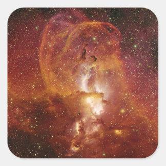 Minor Nebula NGC 3582 in Sagittarius RCW 57 Square Sticker