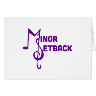 Minor Setback Blank Inside Card