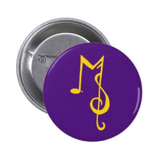 Minor Setback Button: Purple & Gold Pinback Button