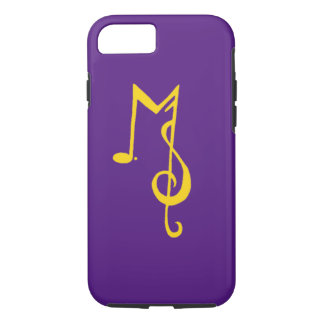 Minor Setback iPhone 7 Case: Purple & Gold iPhone 8/7 Case
