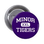 Minor - Tigers - High School - Adamsville Alabama Pin