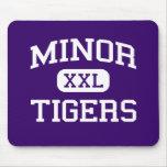 Minor - Tigers - High School - Adamsville Alabama Mouse Mats