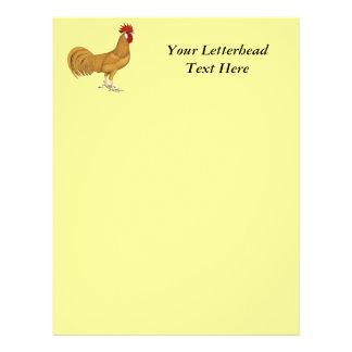 Minorca:  Buff Rooster Custom Letterhead