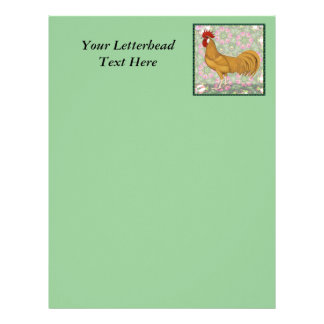 Minorca Old-fashioned Rooster Letterhead Template