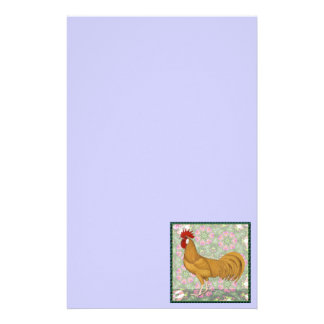 Minorca:  Old-fashioned Rooster Stationery