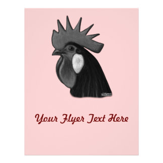 Minorca Rooster Head Flyer