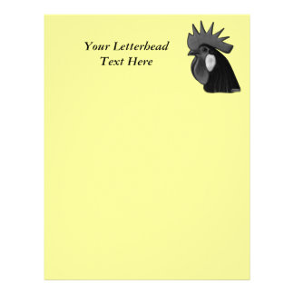 Minorca Rooster Head Personalized Letterhead