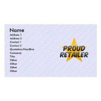 Minorista orgulloso plantilla de tarjeta de negocio