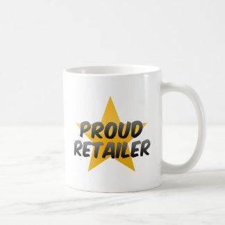 Minorista orgulloso taza de café