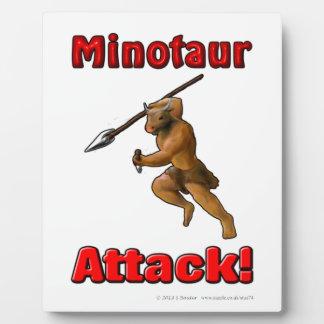 Minotaur Attack (with slogan) Plaque