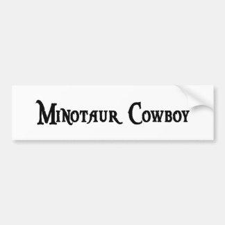 Minotaur Cowboy Bumper Sticker Car Bumper Sticker