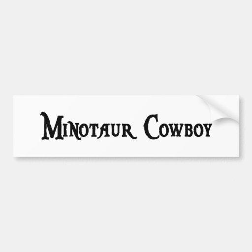 Minotaur Cowboy Bumper Sticker