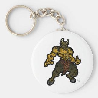 Minotaur Basic Round Button Keychain