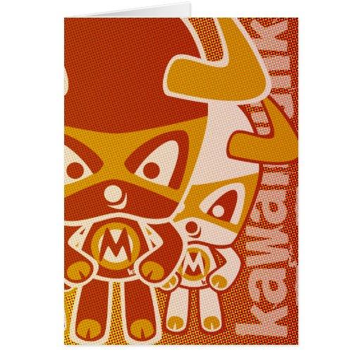 Minotaur Mascot Greeting Card