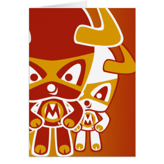 Minotaur Mascot Greeting Cards