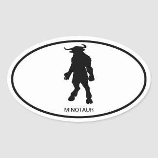 Minotaur Oval Sticker
