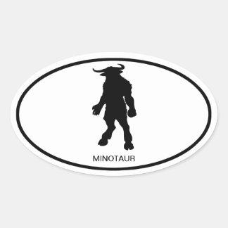 Minotaur Pegatina Ovalada