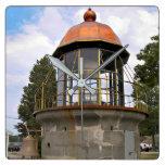 Minots Ledge Lighthouse Lantern Square Wall Clock