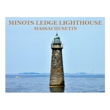 Minots Ledge Lighthouse, Massachusetts Postcard