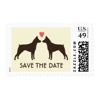 MinPin Silhouettes Wedding Save the Date Postage Stamp