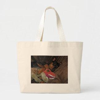 minpin trex large tote bag