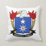 Minshull Family Crest Throw Pillow