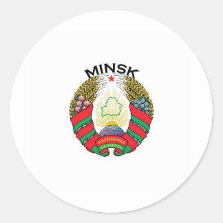 Minsk, Belarus Classic Round Sticker