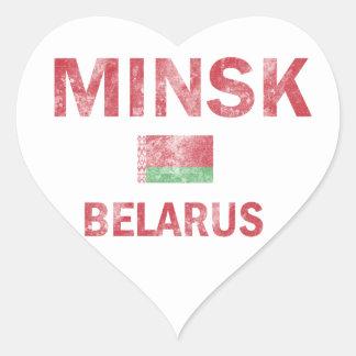 Minsk Belarus Designs Heart Sticker