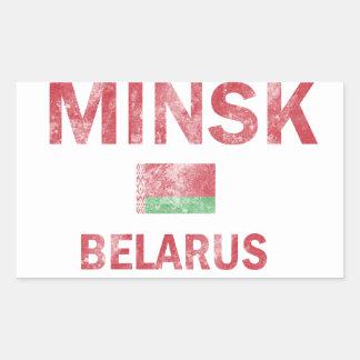 Minsk Belarus Designs Rectangular Sticker
