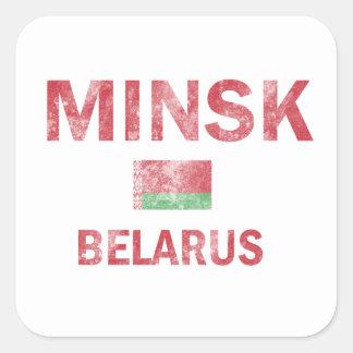 Minsk Belarus Designs Square Sticker