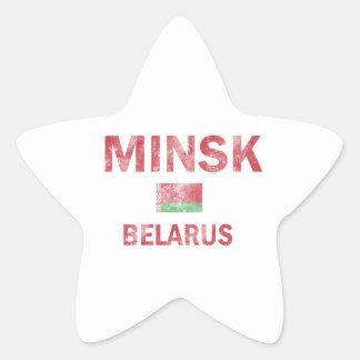 Minsk Belarus Designs Star Sticker