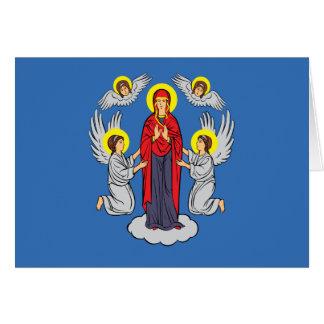Minsk, Belarus flag Cards