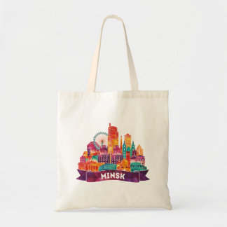 Minsk - Travel to the famous Landmarks Tote Bag