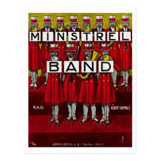 Minstrel Band Post Card
