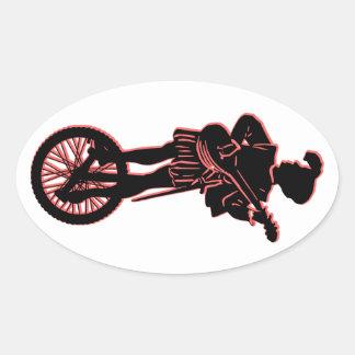 Minstrel Cycle Oval Sticker