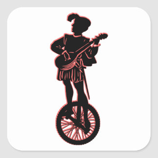 Minstrel Cycle Square Sticker