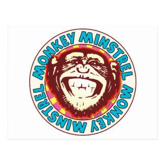 Minstrel Monkey Postcard
