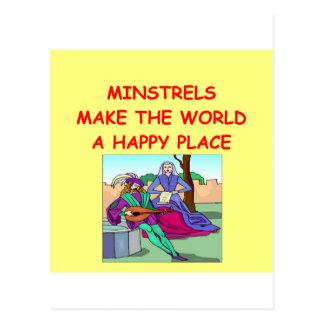 minstrel postcard