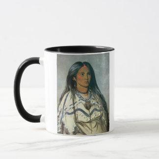 'Mint', a Mandan Indian girl, 1832 (colour litho) Mug